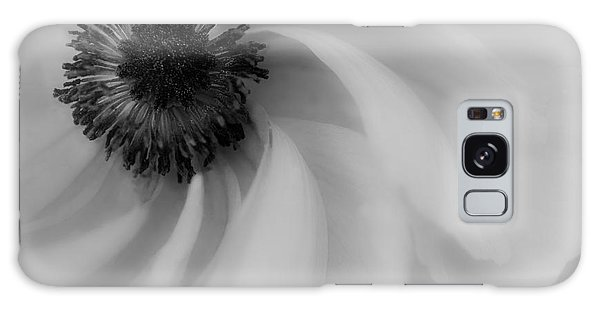 Orange Flower In Black And White Galaxy Case