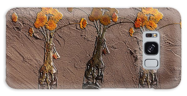 Orange Flowers Embedded In Adobe Galaxy Case by Don Gradner