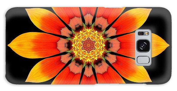 Orange Gazania I Flower Mandala Galaxy Case