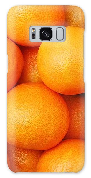Orange Geometry Galaxy Case