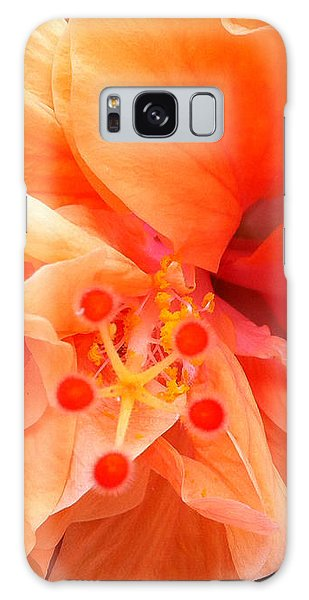 Orange Hibiscus Galaxy Case