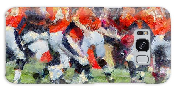 Orange In Motion Galaxy Case by Carrie OBrien Sibley