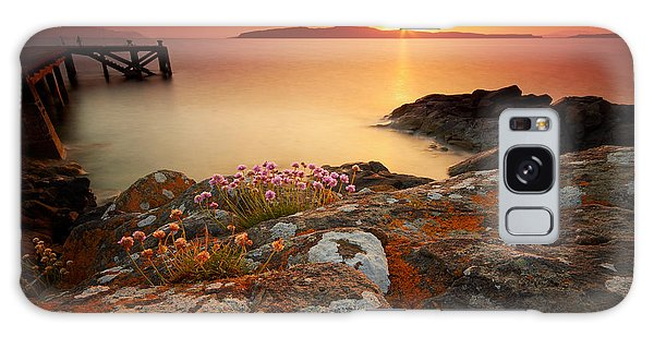 Orange Jetty Sunset  Galaxy Case by Fiona Messenger