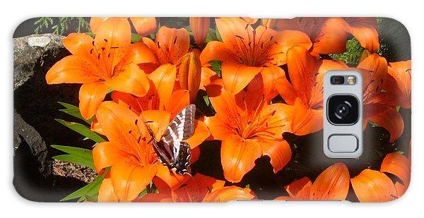 Orange Lilies Galaxy Case
