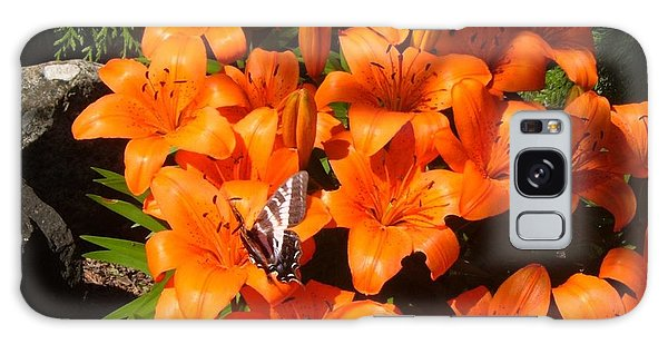 Orange Lilies Galaxy Case