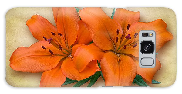 Orange Lily Galaxy Case by Jane McIlroy
