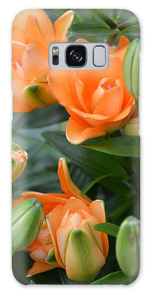 Orange Lily Galaxy Case by Tine Nordbred
