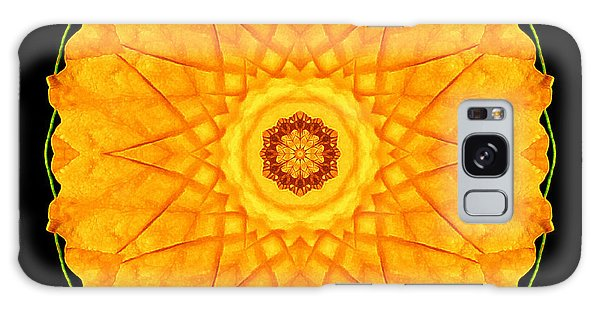 Orange Nasturtium Flower Mandala Galaxy Case