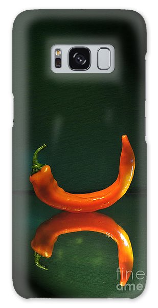 Orange Pepper Galaxy Case
