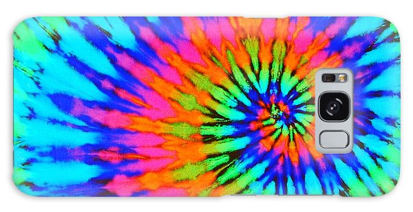Orange Pink And Blue Tie Dye Spiral Galaxy Case