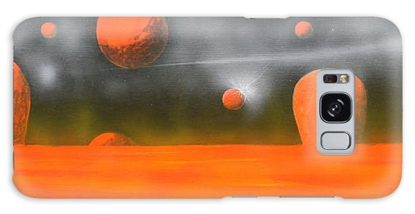 Orange Planet Galaxy Case by Tim Mullaney