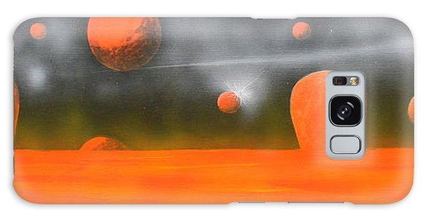 Orange Planet Galaxy Case