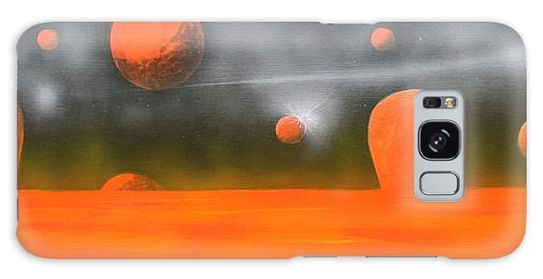 Orange Planet Galaxy Case by Tim Mullaney