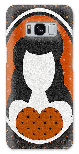 Orange Polka-dot Girl Galaxy Case