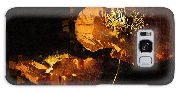Orange Poppies Two Galaxy Case