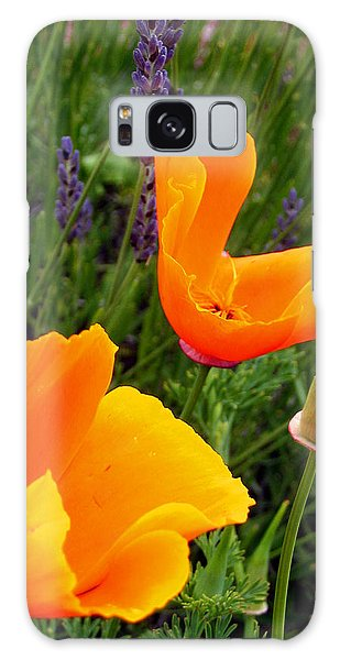 Orange Poppies With Lavender Galaxy Case