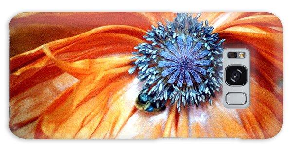 Orange Poppy Close-up Galaxy Case