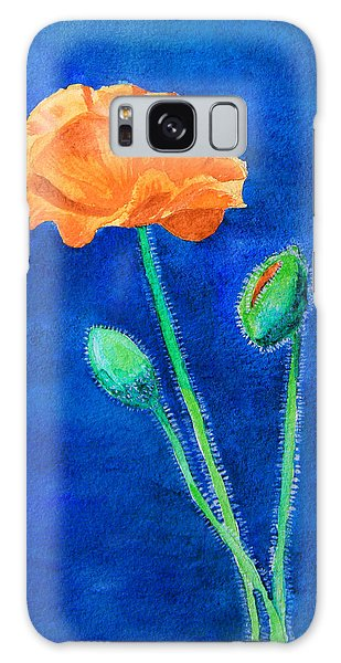 Orange Poppy Galaxy Case