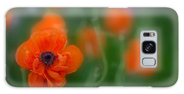 Orange Poppy Galaxy Case