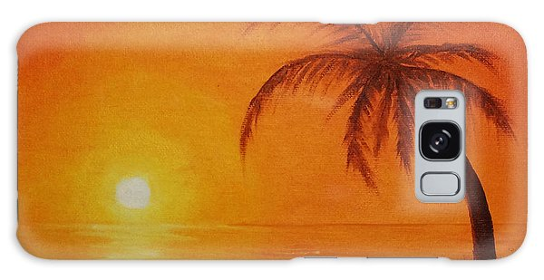 Orange Reflections Galaxy Case
