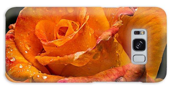 Orange Rose Drops Galaxy Case