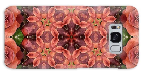 Orange Rose Mandala Galaxy Case