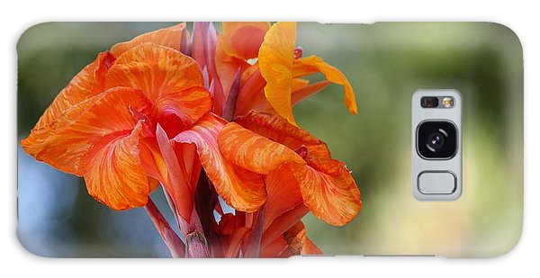 Orange Ruffled Beauty Galaxy Case