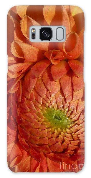 Orange Sherbet Delight Dahlia Galaxy Case by Susan Garren
