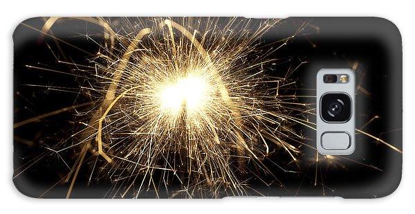 Fireworks Galaxy Case - Orange Sparkle by Samuel Whitton