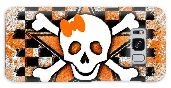 Orange Star Skull Galaxy Case