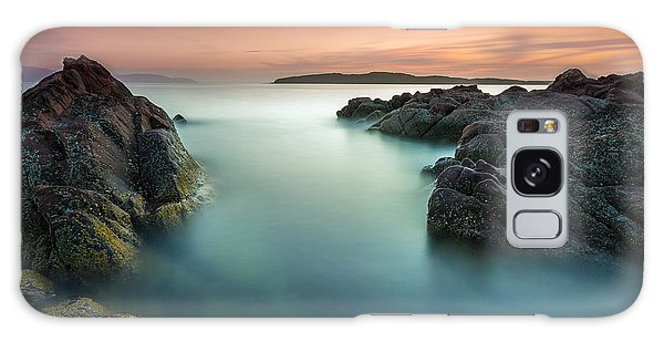 Orange Sunset At Portencross Galaxy Case by Fiona Messenger