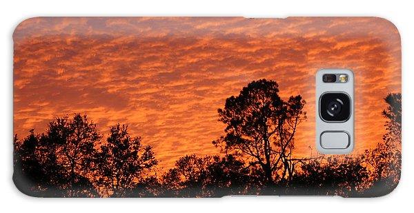 Orange Sunset Galaxy Case
