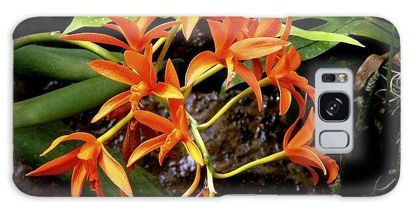Orange Tendrils Galaxy Case