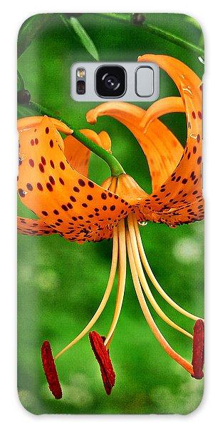 Orange Tiger Lily Galaxy Case