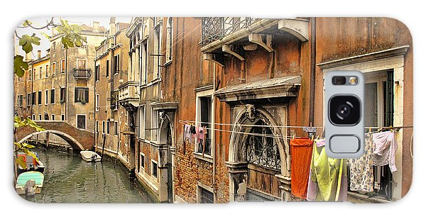 Orange Towel Venice Canal Galaxy Case