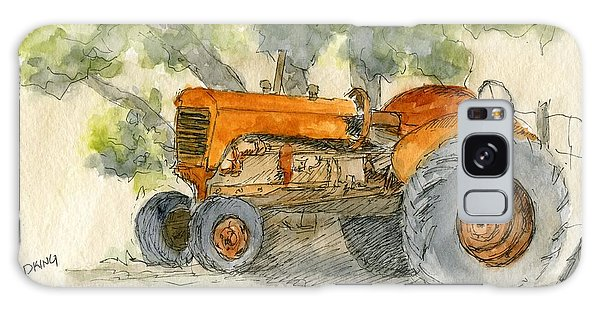 Orange Tractor Galaxy Case