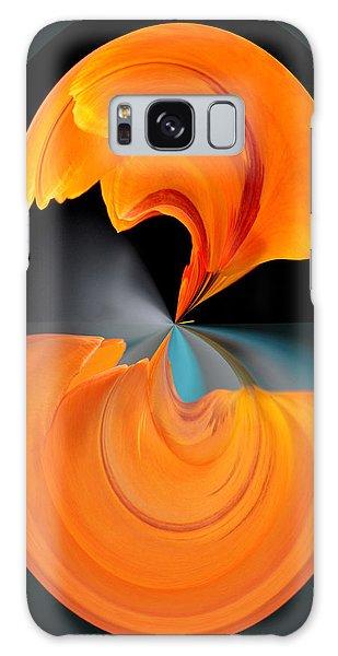 Orange Tulip Hour Glass Galaxy Case