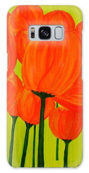 Orange Tulip Pops Galaxy Case