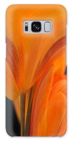 Orange Tulip Tower Galaxy Case