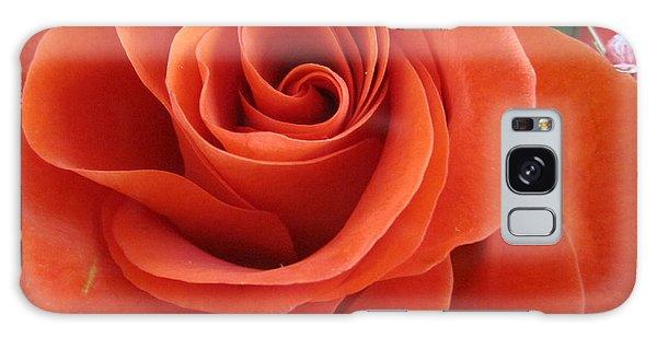 Orange Twist Rose 2 Galaxy Case