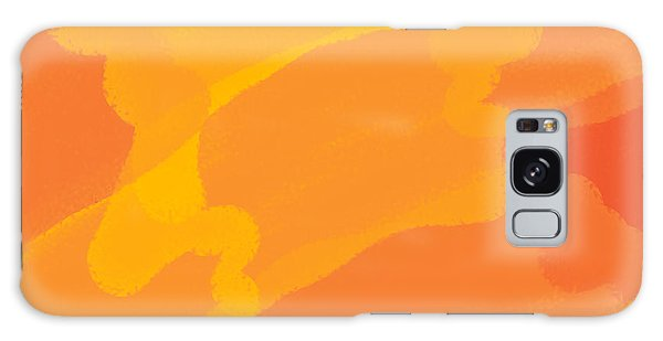 Orange Yellow Abstract Galaxy Case