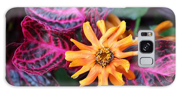 Orange Zinnia Galaxy Case