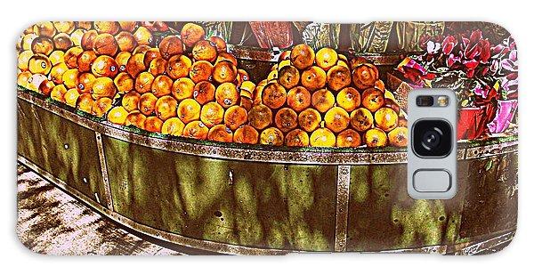 Oranges And Flowers Galaxy Case by Miriam Danar