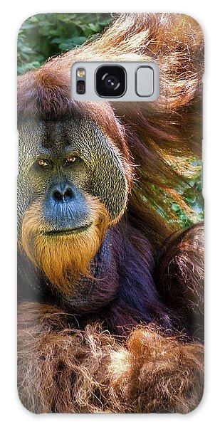 Orangutan Galaxy Case by Rob Amend