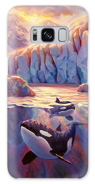Orca Sunrise At The Glacier Galaxy Case