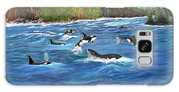 Orcas Galaxy Case by Myrna Walsh