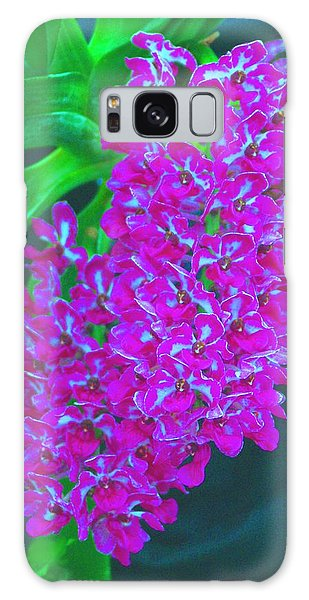 Orchid 14 Manipulated Galaxy Case by Sheila Byers