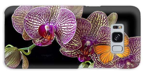 Orchidaceae Galaxy Case - Orchid And Orange Butterfly by Garry Gay