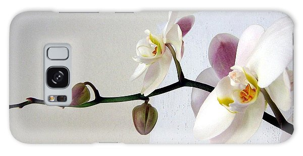 Orchid Coming Out Of Painting Galaxy Case by Barbara Yearty