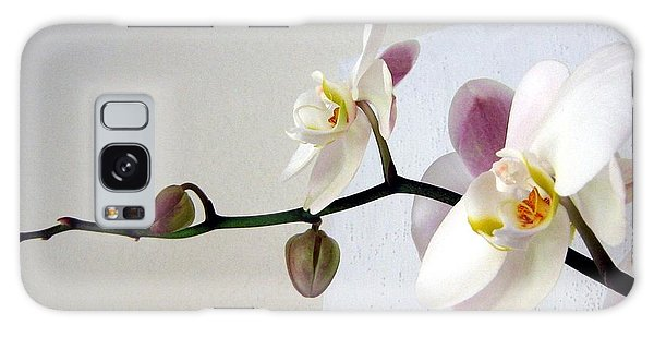 Orchid Coming Out Of Painting Galaxy Case